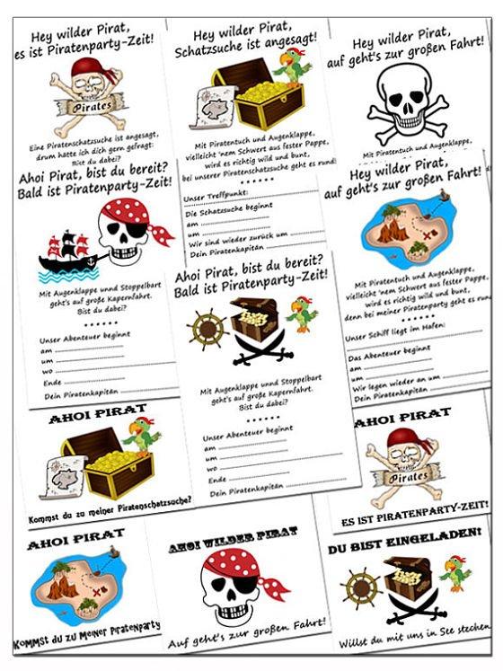 piraten geburtstagseinladungen kostenlos downloaden, Einladung