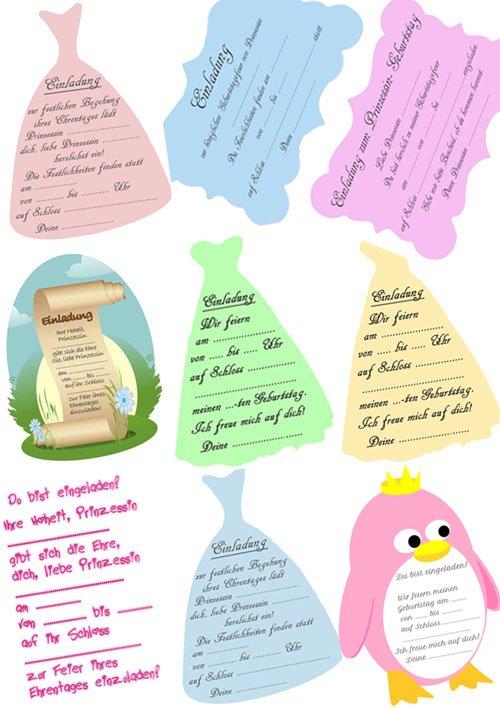 prinzessin kindergeburtstagseinladungen kostenlos downloaden, Einladung