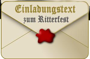 Einladungstext Kindergeburtstag Ritterfest