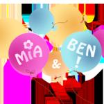 Unsere Maskottchen Mia und Ben stellen sich vor