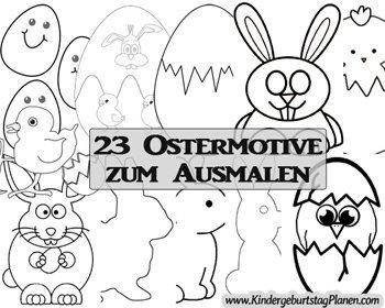 Ausmalbilder Und Fehlerbilder Für Ostern Kindergeburtstag Planen