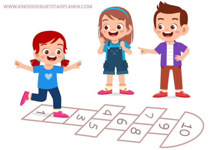 Kinderspiele für draußen: Bewegungsspiel für Kinder